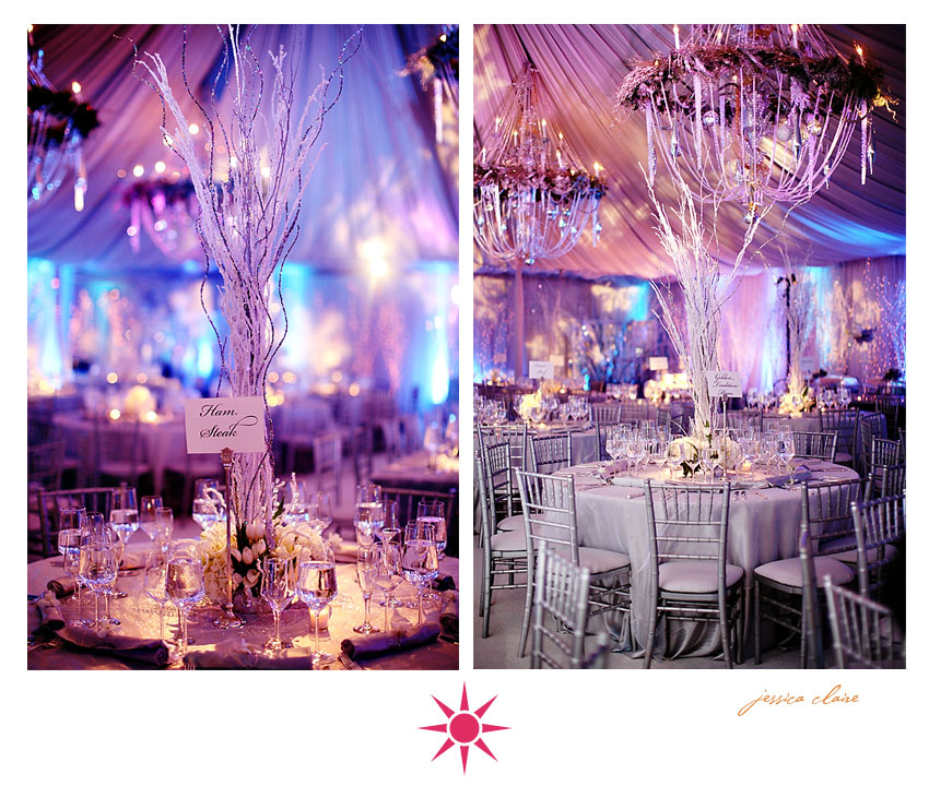 Winter Wonderland Wedding Centerpieces