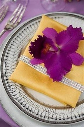 2010 Wedding Inspiration Yellow and Purple color scheme