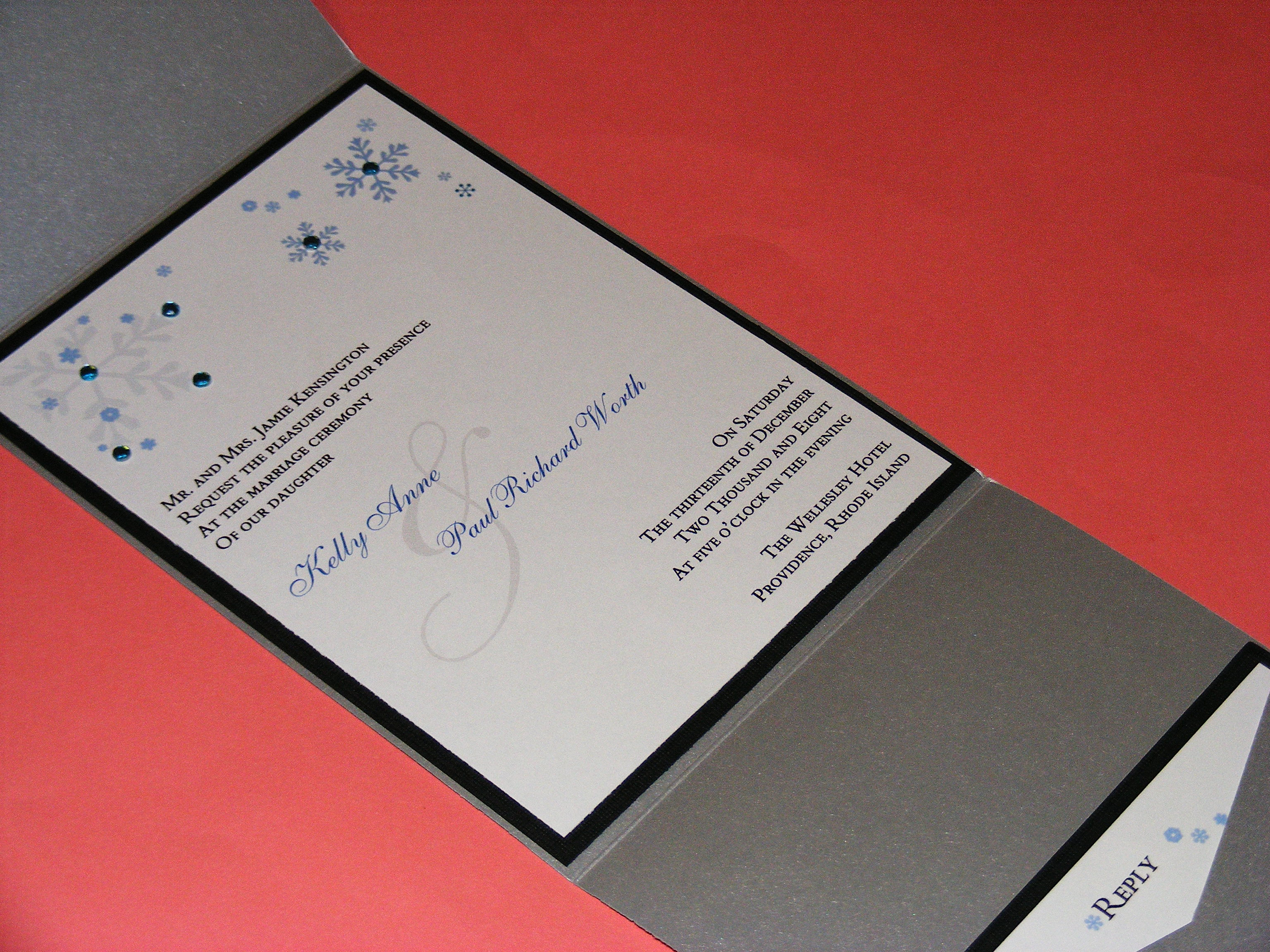 winter wedding invitations | The Classic Invitation\'s Weblog